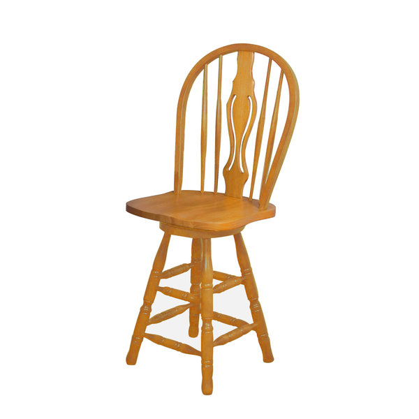 "Sunset Trading 24"" Keyhole Barstool l Light Oak Finish"
