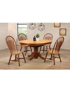 Sunset Trading 5 Piece Butterfly Leaf Pub Dining Table Set l 4 Keyhole Barstools l Counter Height l Expandable