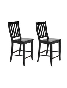 "Sunset Trading School House 24"" Barstool - Antique Black l Set of l  RTA"