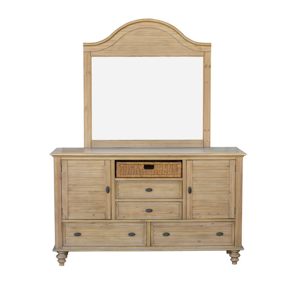 Sunset Trading Hampton Dresser with Mirror - Sandstone