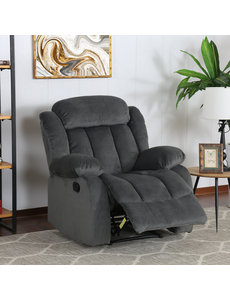 Sunset Trading Madison Rocking Reclining Chair - Charcoal Slate