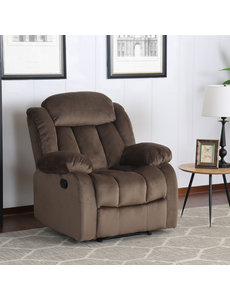 Sunset Trading Madison Rocking Reclining Chair - Chocolate