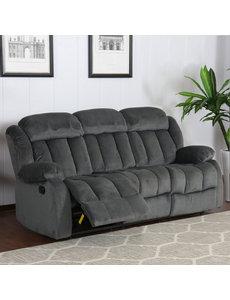 Sunset Trading Madison Reclining Sofa - Charcoal Slate