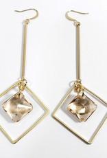 Princess Cut Geo Drop Earrings