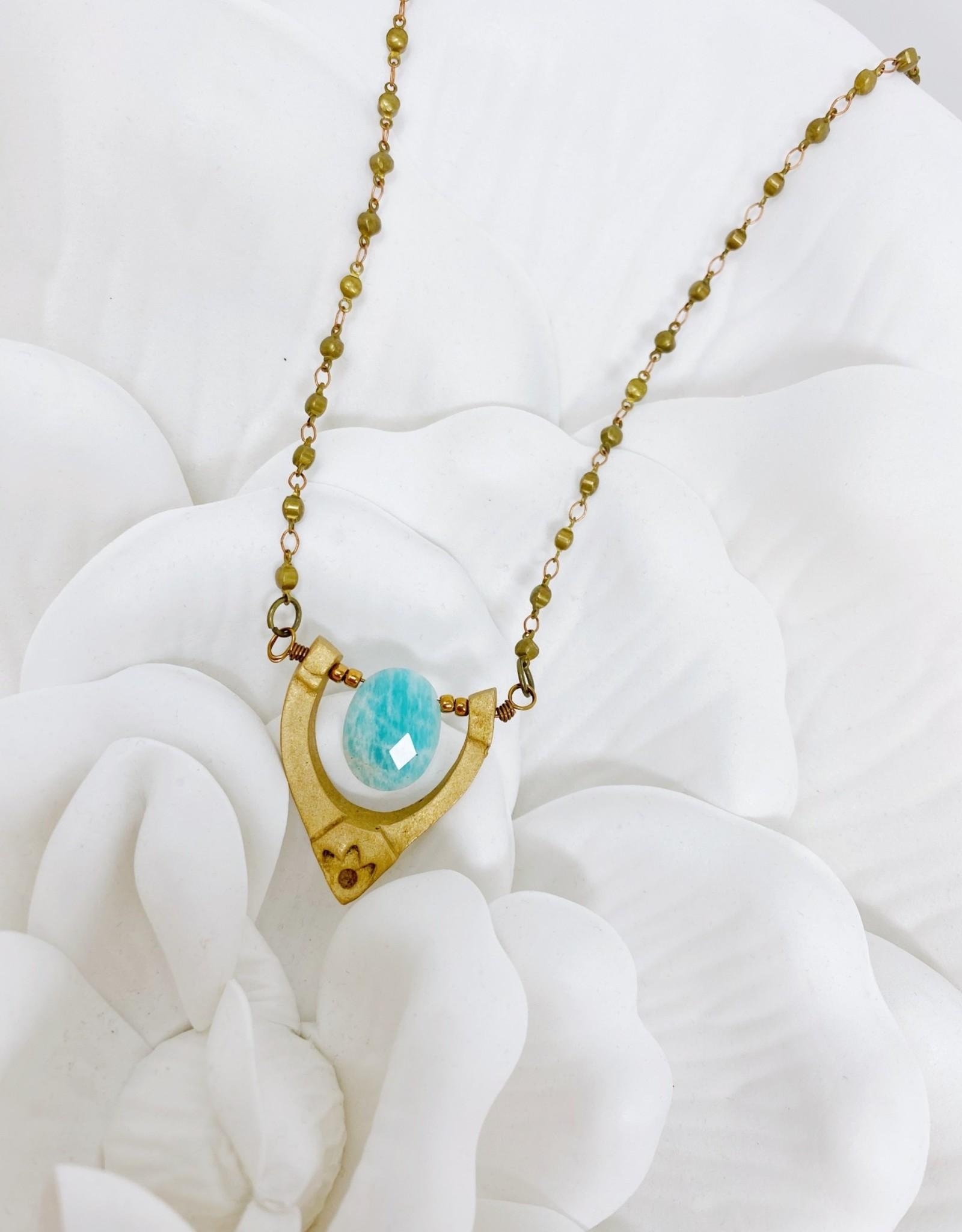 Ocean Blue Drop Necklace