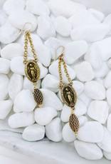 St. Christopher Charm Earrings