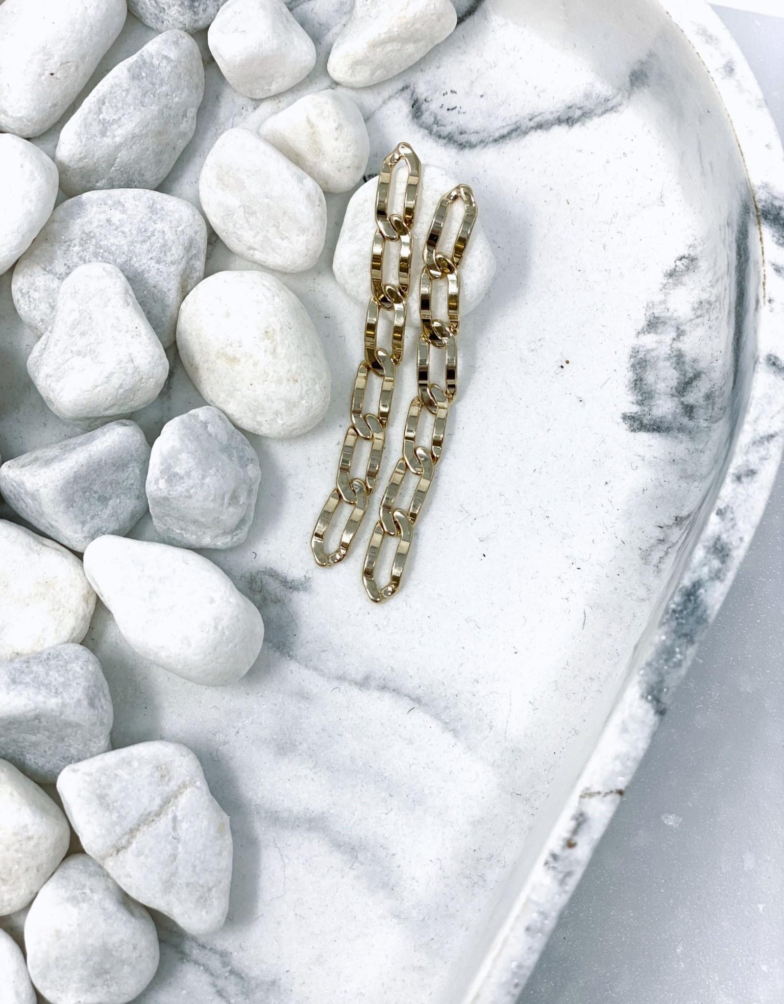 Chain Reaction Earrings Gold