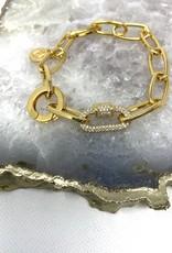 Chain Bracelet & Swarovski Crystal-B1405