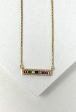Rainbow Bar Necklace