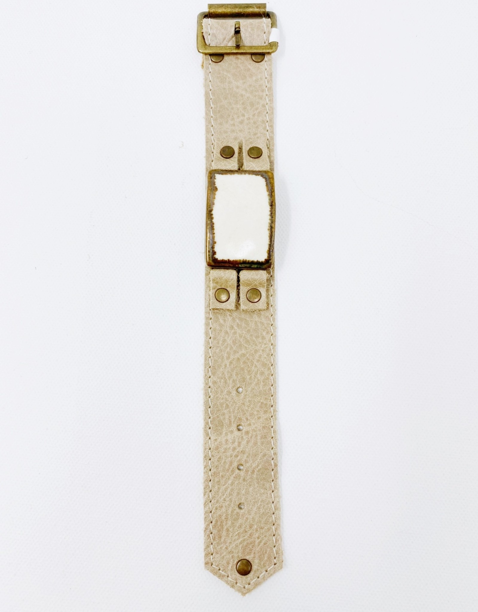 Leather Buckle with Copper Pendant