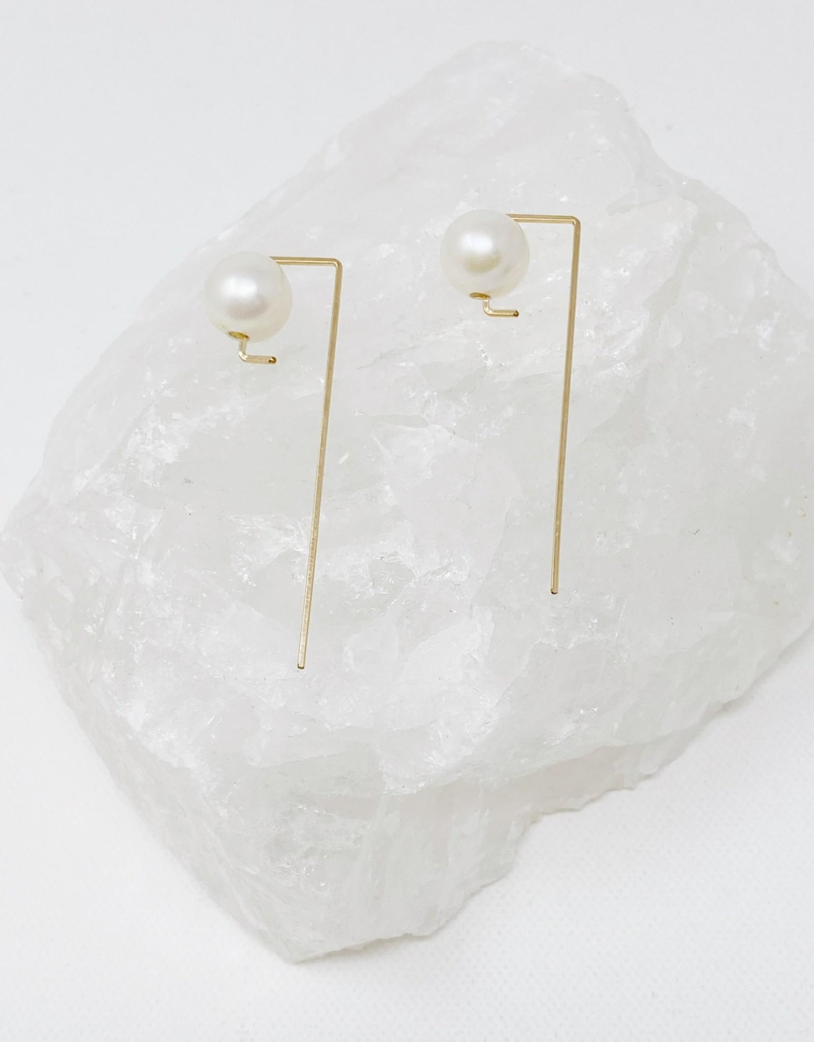 B. Stellar Freshwater Pearl Stem Earrings