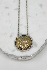Gold Dome Coin Necklace