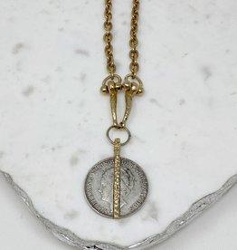 Queen Wilhelmina Coin Horse Bit with Gold Detail