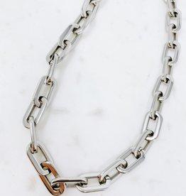 Jenna Link Necklace- Silver