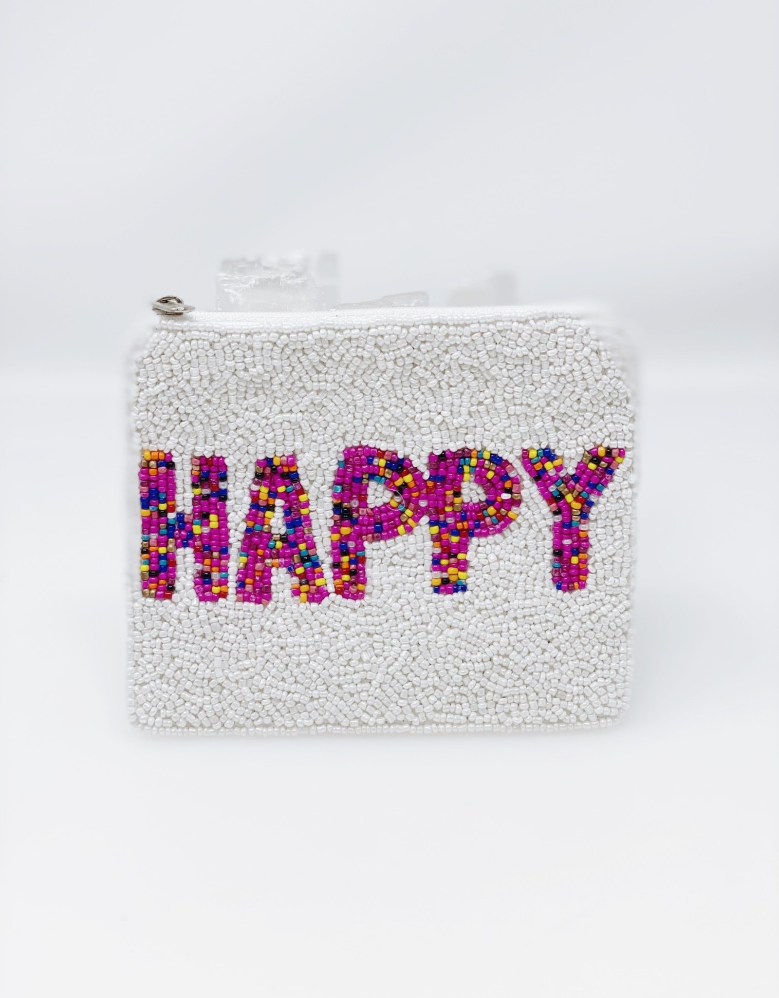Happy Beaded Pouch