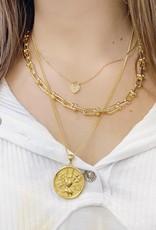 Golden Heart Lock Necklace