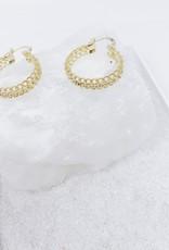 chain hoop earring - gold