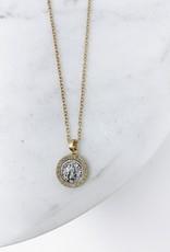 Hestia Gold Frame & Coin Necklace