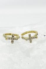 Cross Cuff Earrings