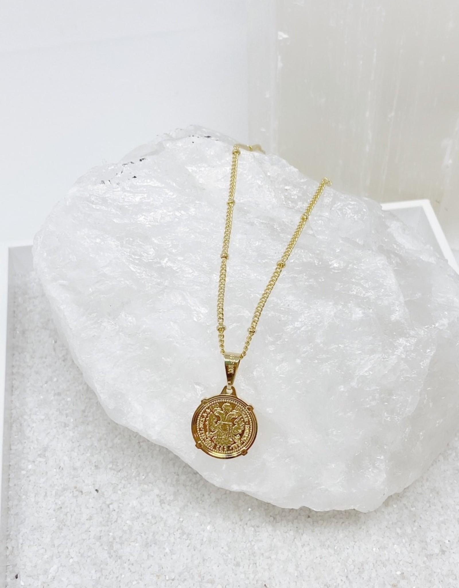 """Emperor Coin Necklace- Small 16"""""""