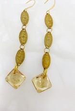 Vintage Golden Shadow Earrings