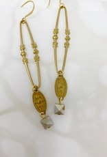 Vintage Pendant Drop Earrings