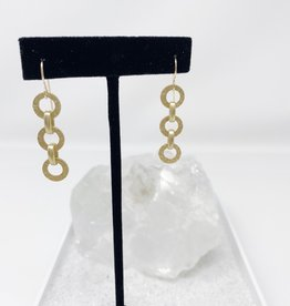 Hammered Matte Gold Chain Earrings