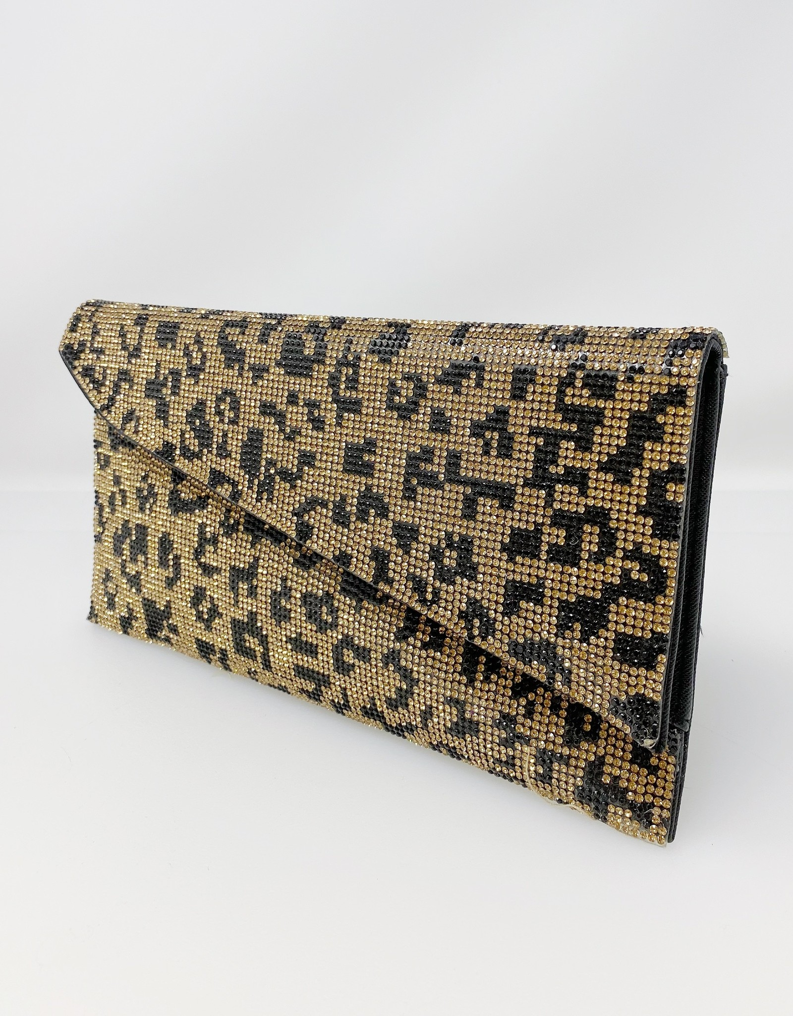 bc handbags Cheetah Stud Clutch