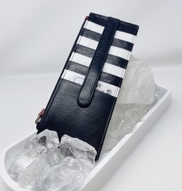 Card Holder with Zip pocket - R/B/W