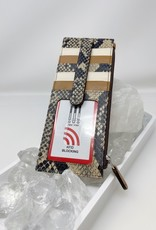 Card Holder with Zip Pocket - Snake