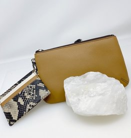 Wristlet Set- Tan with Snake