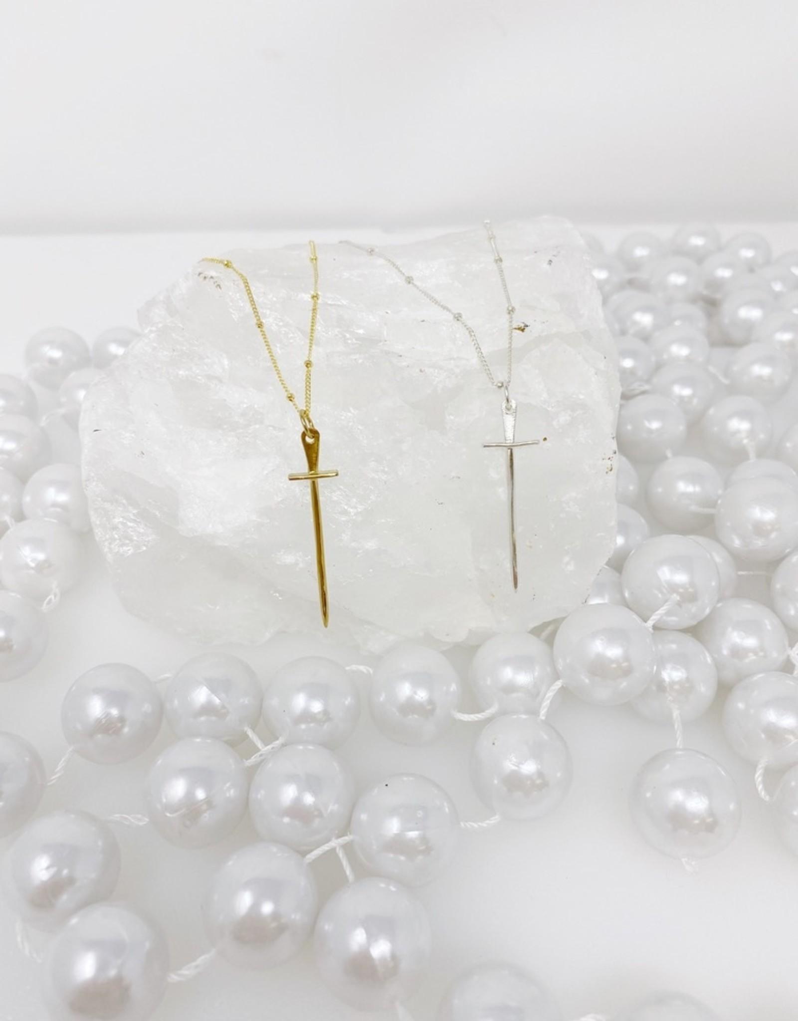 Lotus Silver Knight Necklace