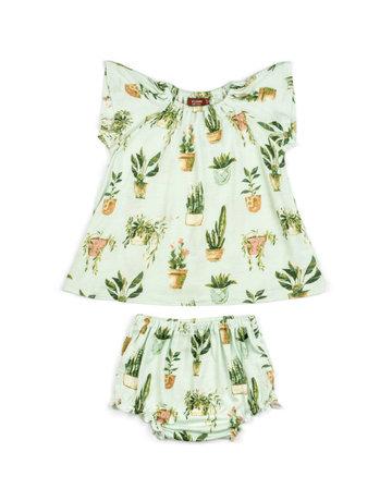 Milkbarn Dress & Bloomer Set 6-12m