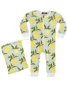 Milkbarn Lemon Zipper Pajama