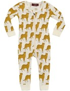 Cheetah Zipper Pajama 9-12m