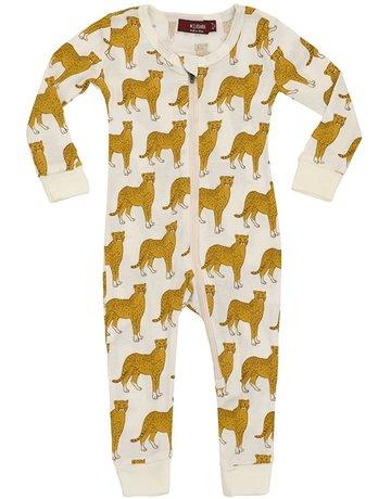 Cheetah Zipper Pajama 9-12m