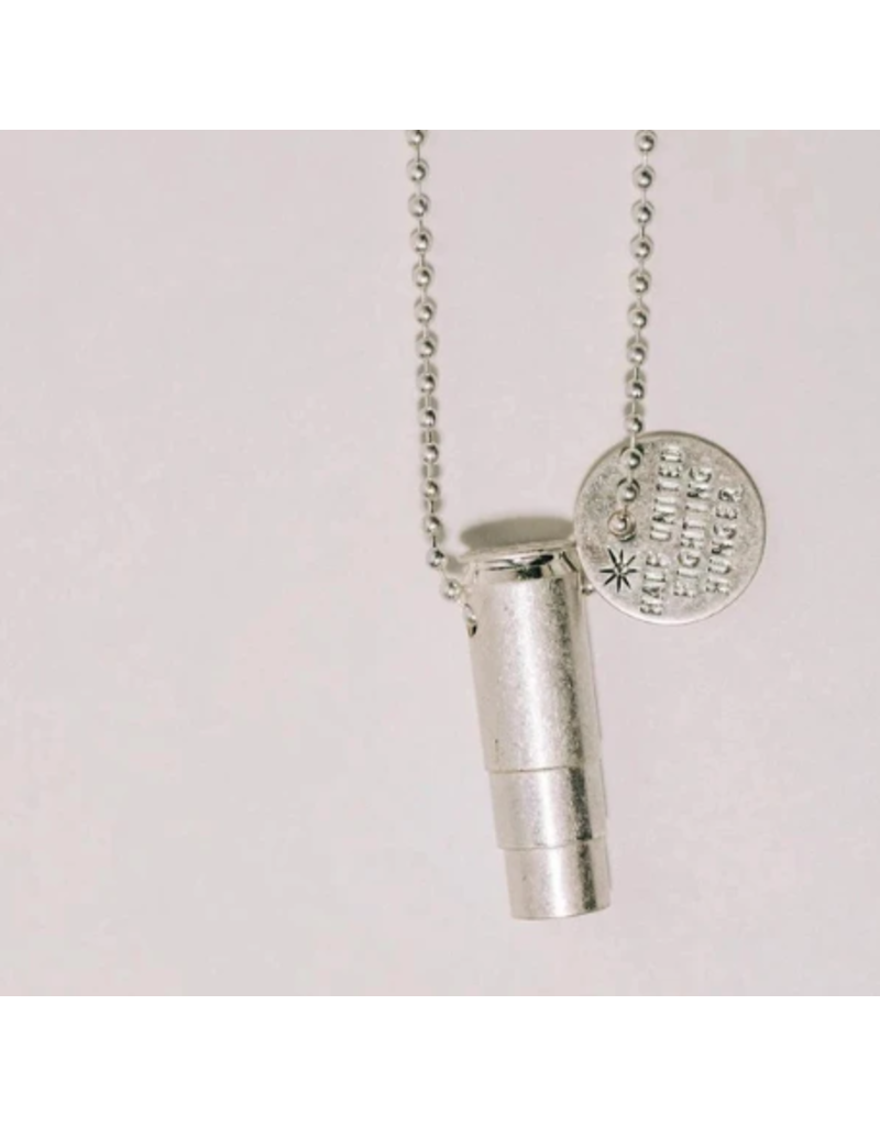 Fighting Hunger Bullet Necklace