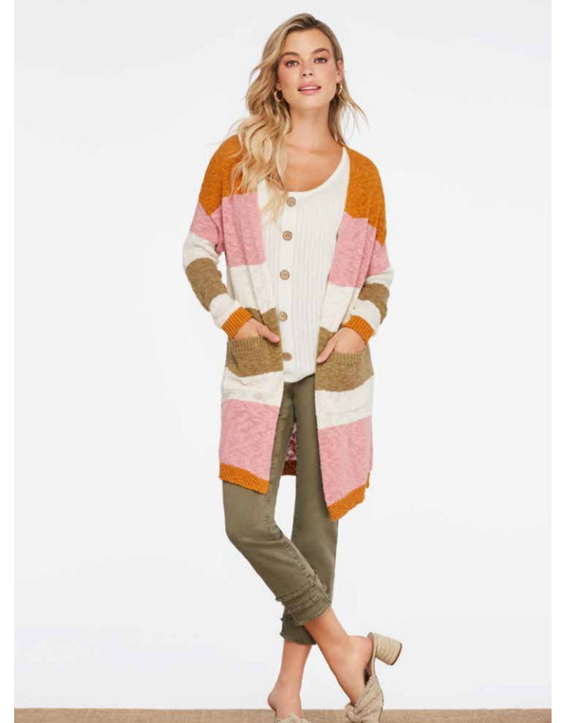 Boucle Striped Cardigan