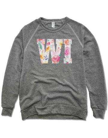 WI Floral Sweatshirt