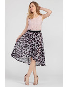 Hi Low Faux Wrap Skirt