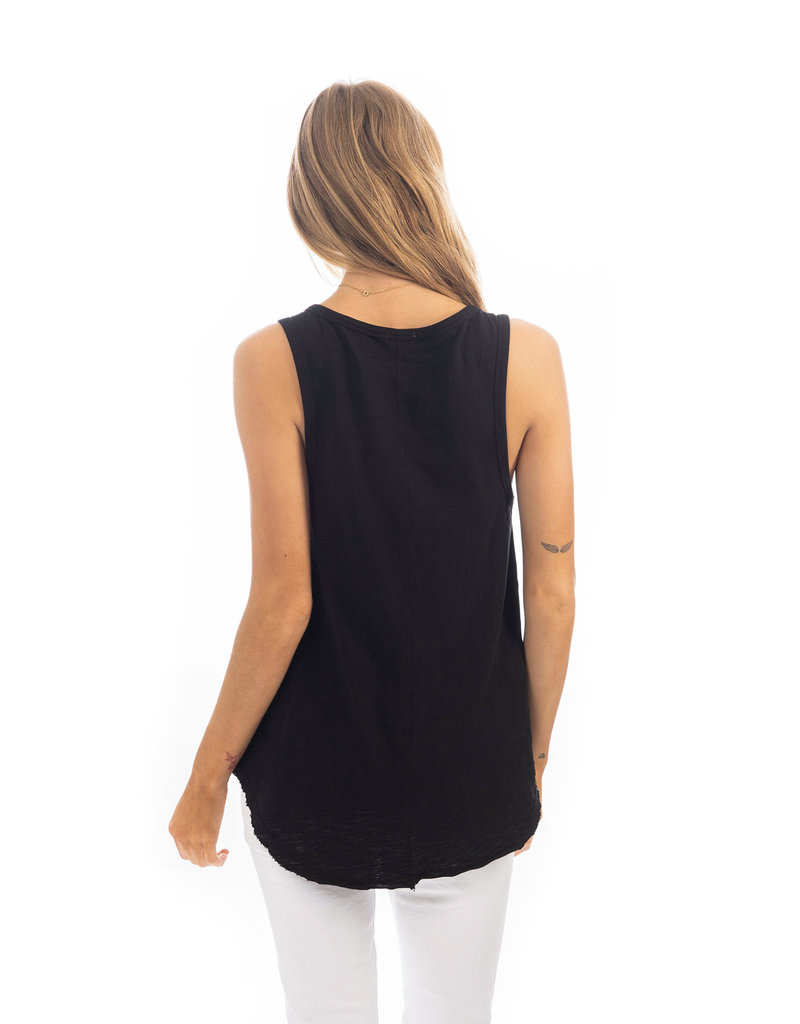 Slub Button Tank