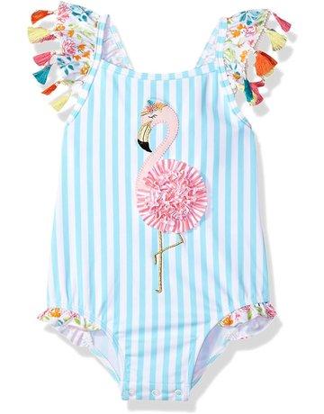 Flamingo Tassel Swimsuit