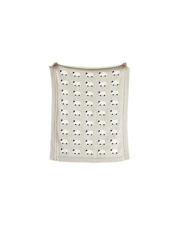 Sheep Knit Blanket