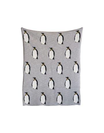 Penguins Knit Blanket