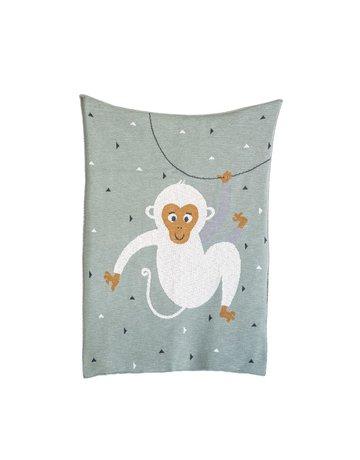 Monkey Knit Blanket