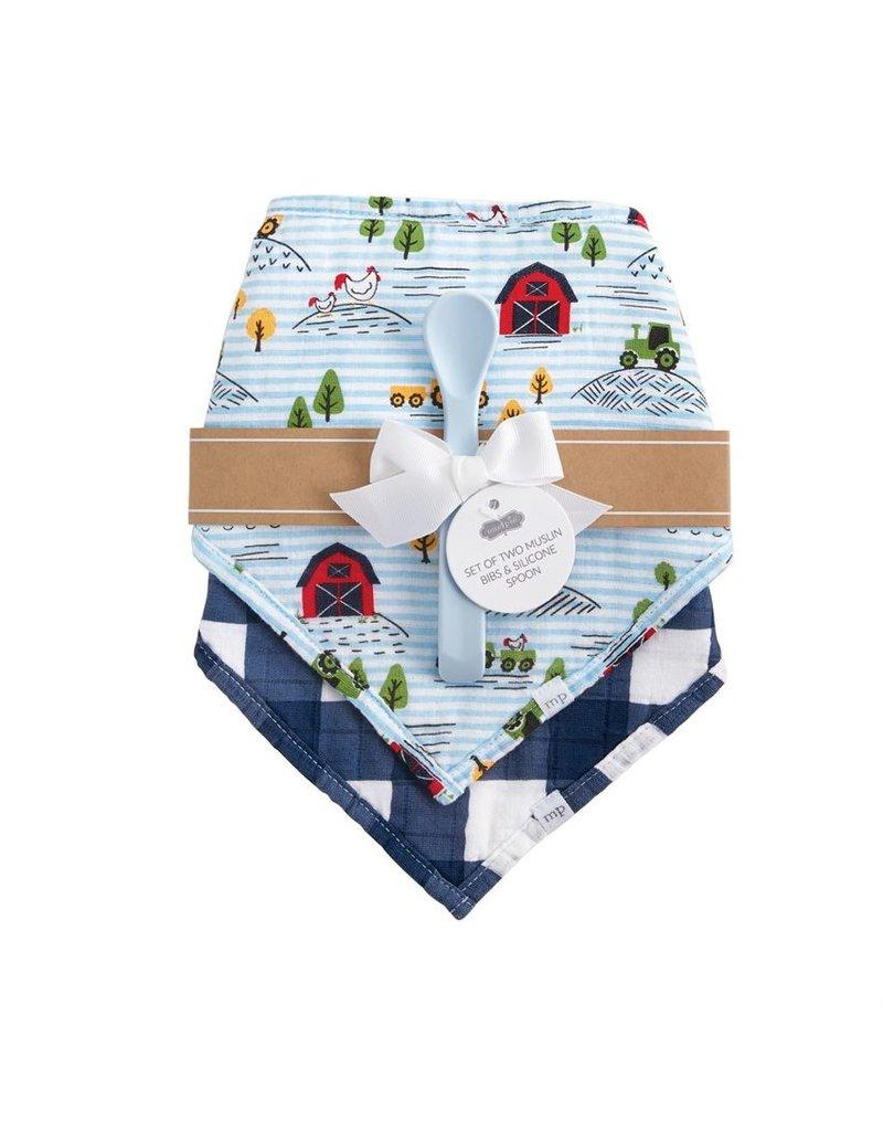 Farm Muslin Bib/Spoon Set