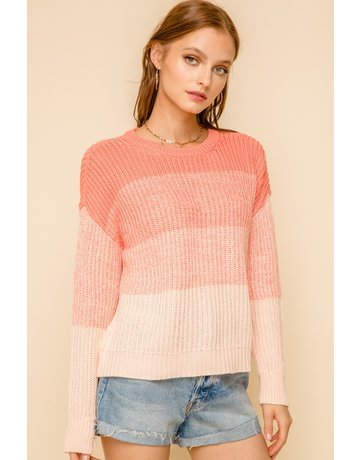 Ombre Crew Sweater