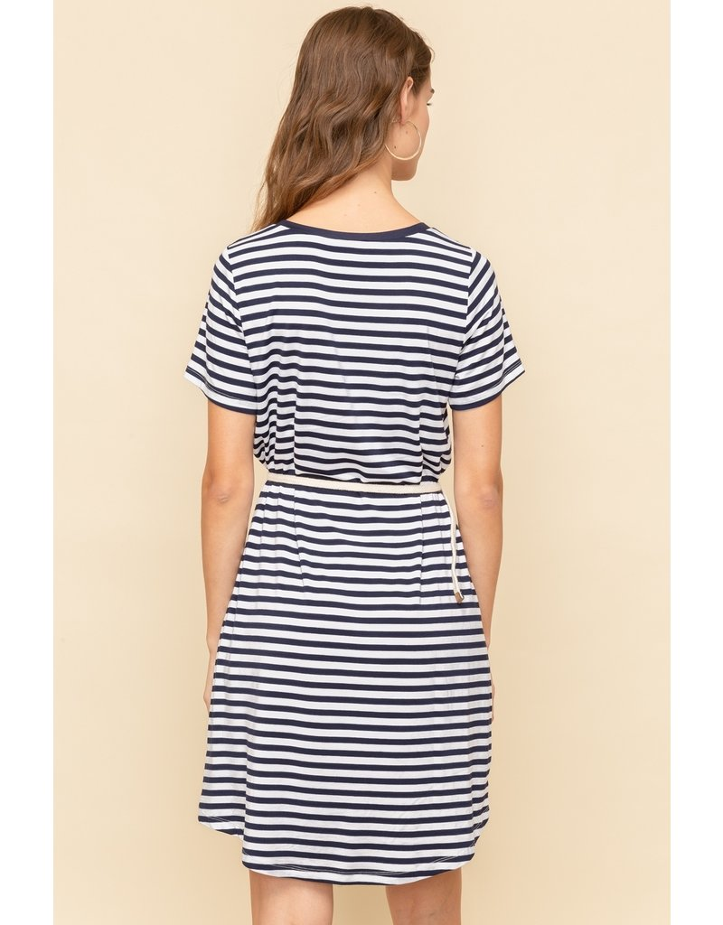 Braid Belt T-shirt Dress