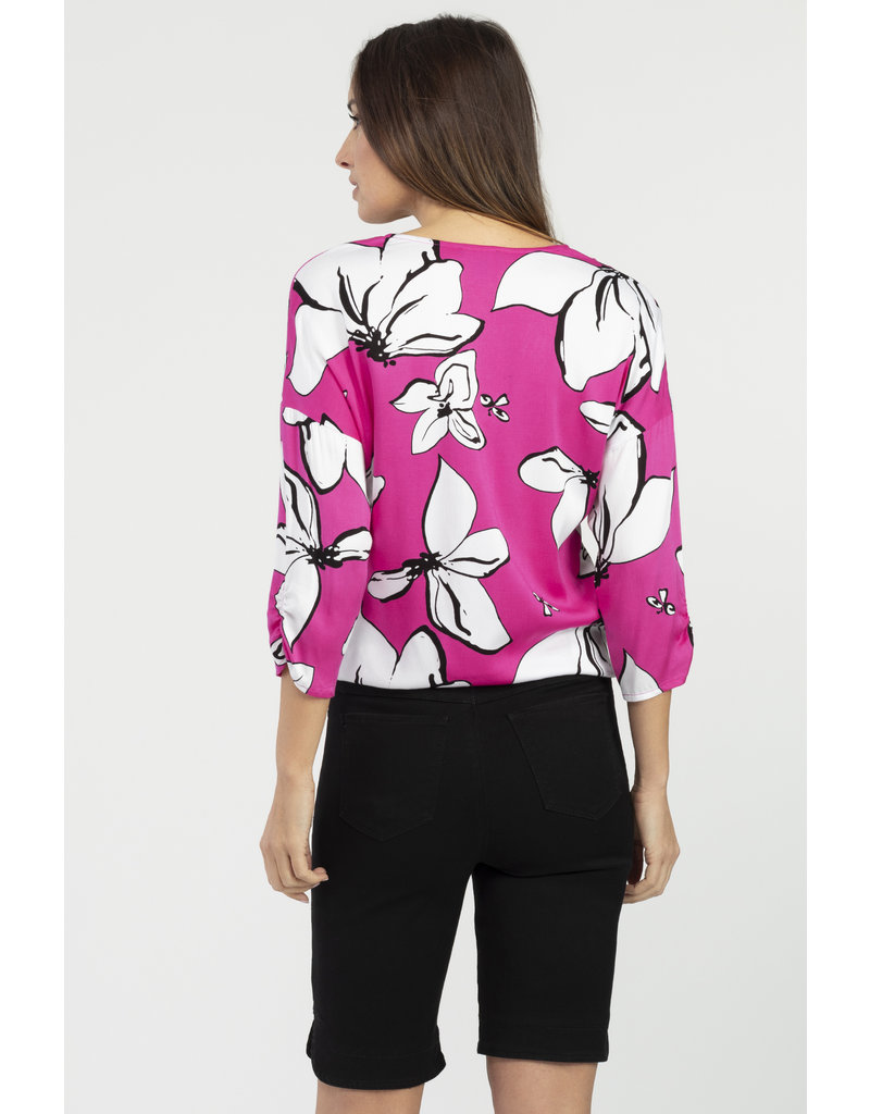 3/4 Sleeve Front Tie Blouse