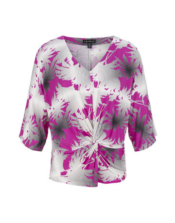 3/4 Slv Top with Knot